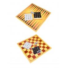 Набір 3в1 шахмати шашки нарди